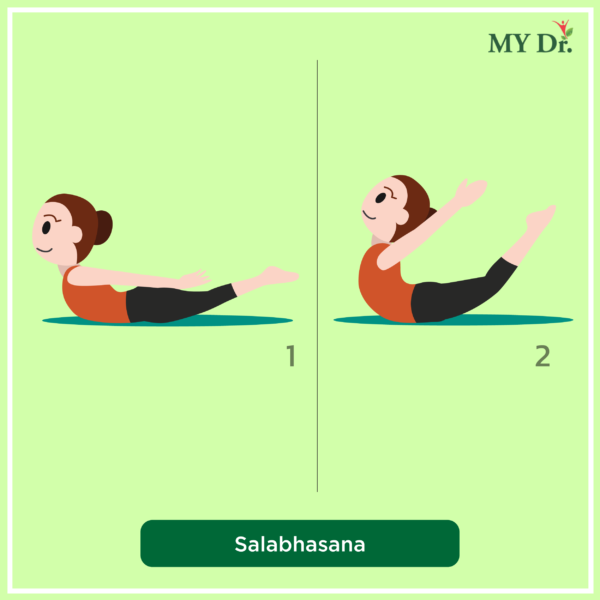 How to perform Salabhasana