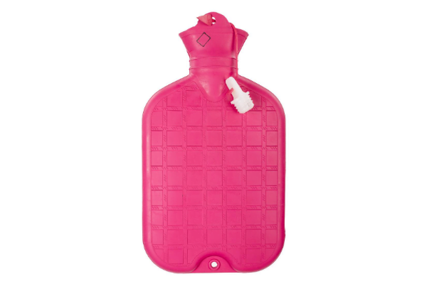 Hot water bottle designed to be used as a compress